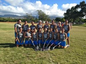 Girls Lacrosse team in Hawaii 2012
